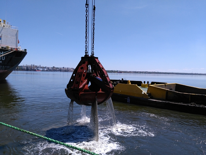 Dredging operations at Nikolaev Sea Commercial Port